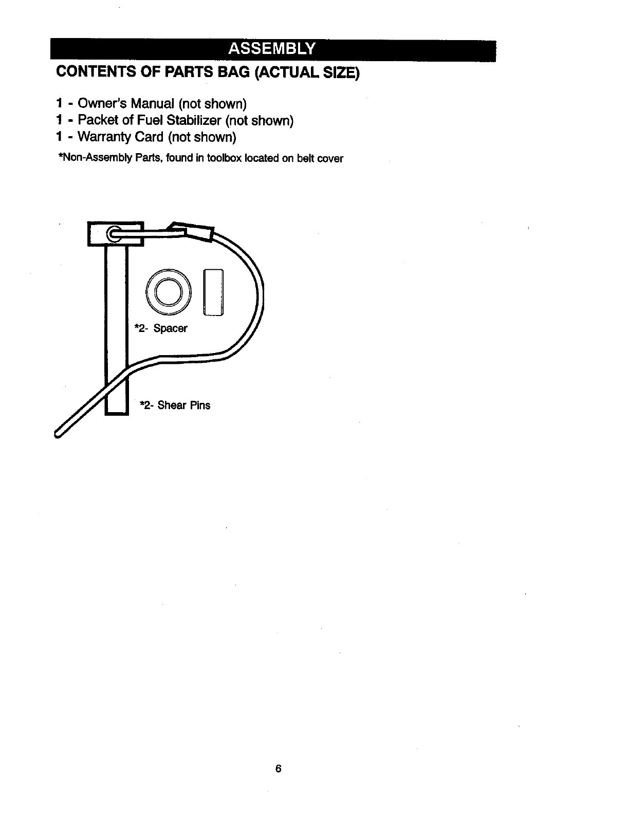 Page 6 of Craftsman Snow Blower 536881851 User Guide