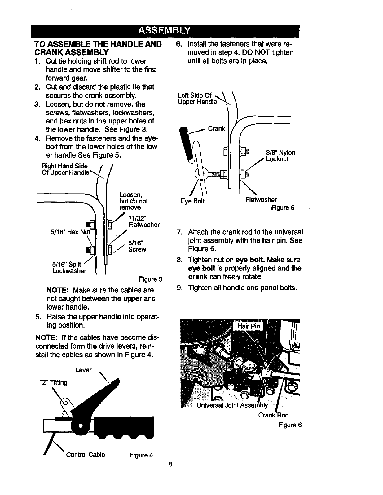 Page 8 of Craftsman Snow Blower 536881851 User Guide