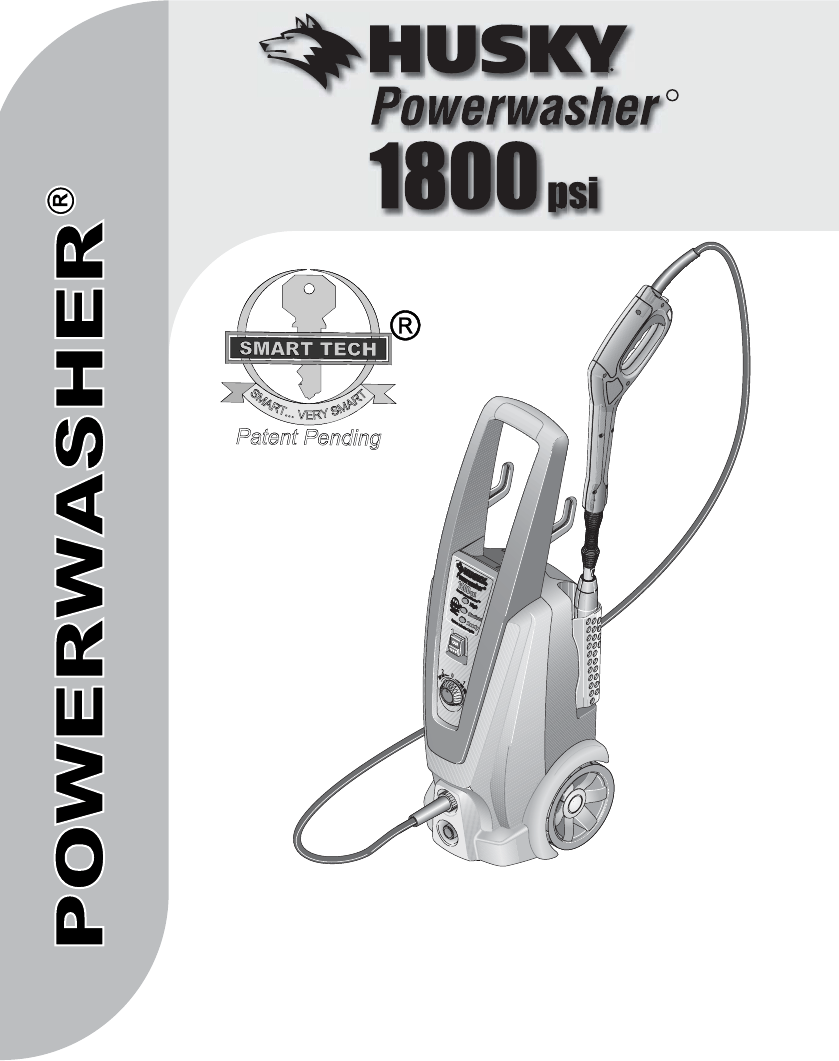 Husky Power Washer 1800 : husky, power, washer, Husky, Pressure, Washer, 1800PSI, Guide, ManualsOnline.com
