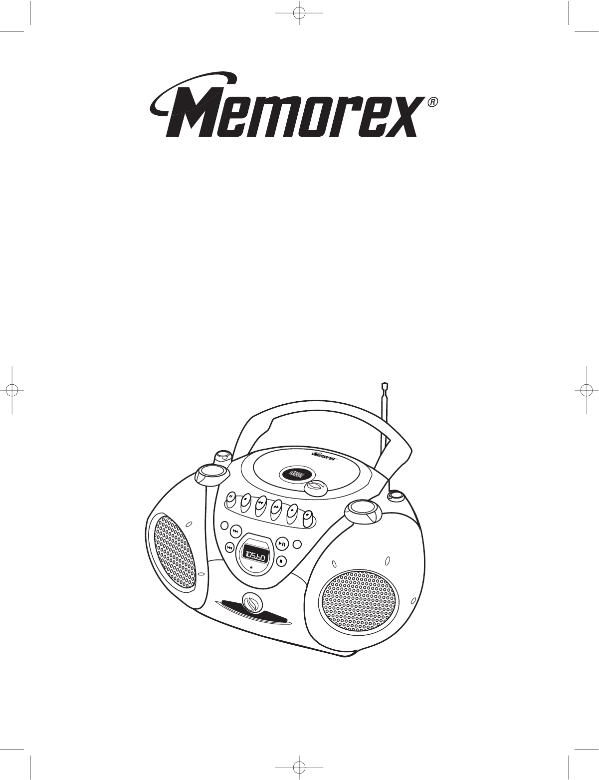 Memorex Portable CD Player MP3825 User Guide
