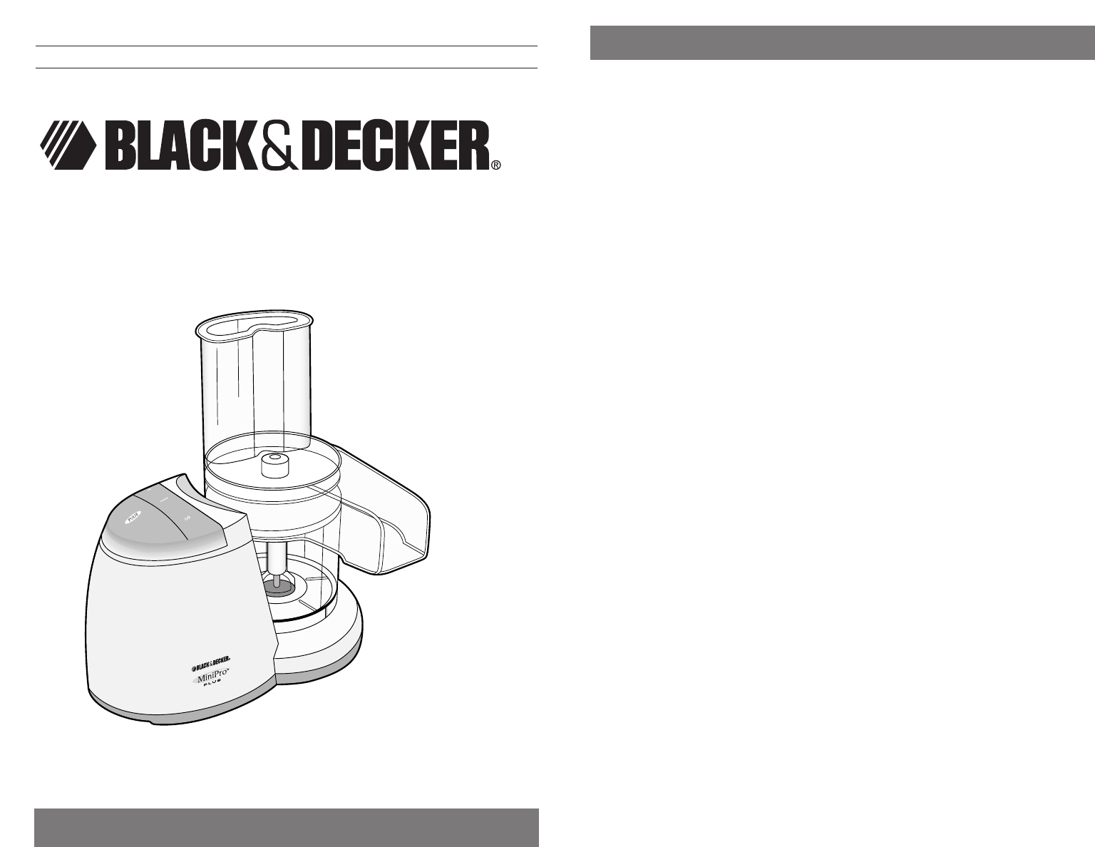 Black And Decker Fresh Guard Manual