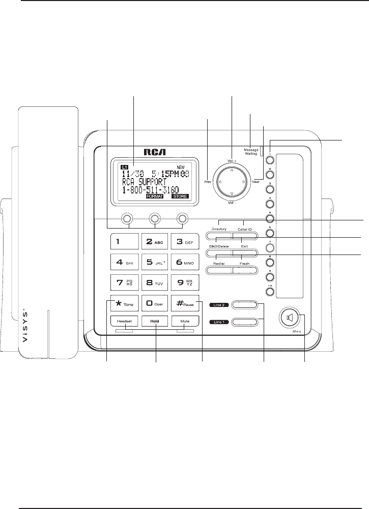 Page 8 of RCA Conference Phone 25214 User Guide
