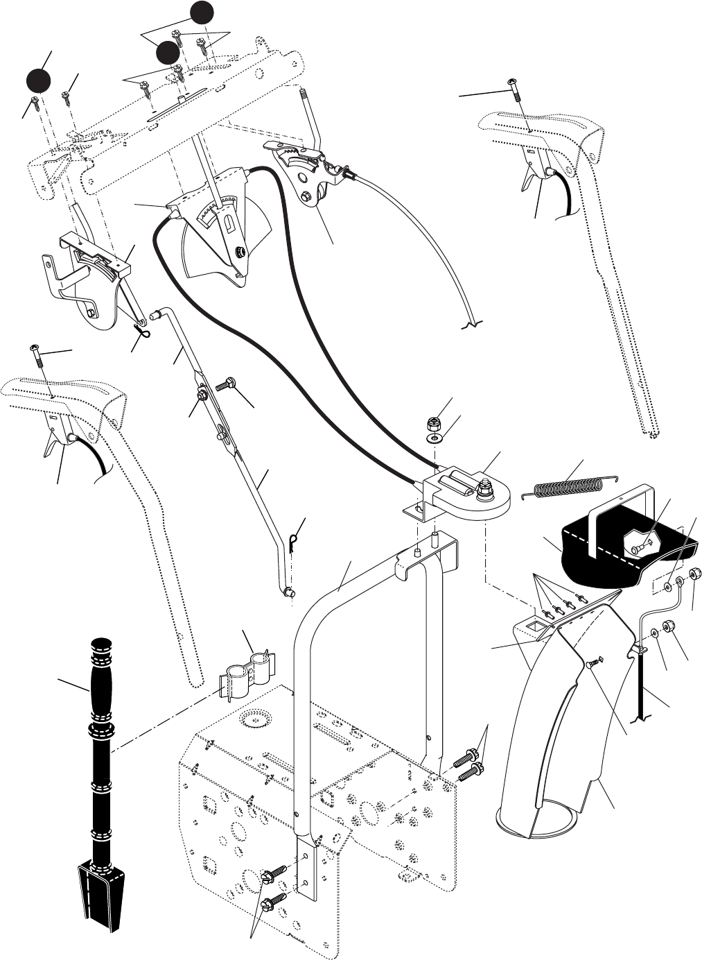 Page 3 of Poulan Snow Blower 10530SBE User Guide