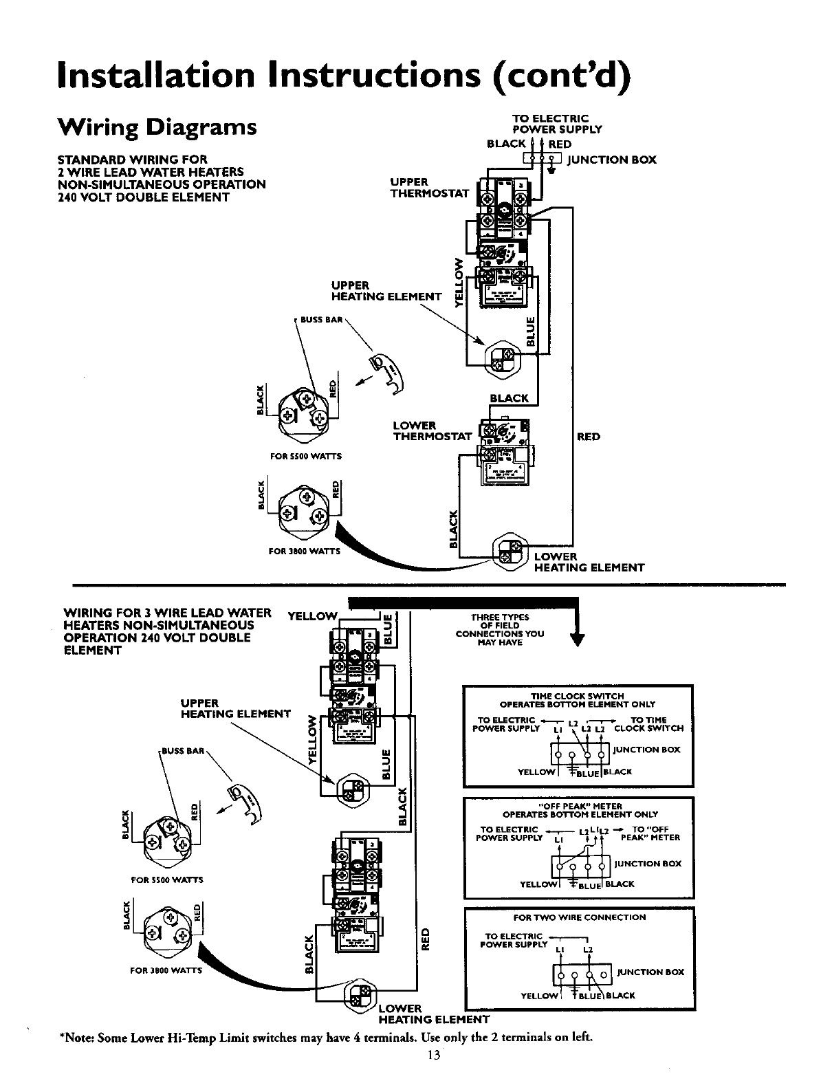 Page 13 of Kenmore Water Heater 153.316455 User Guide