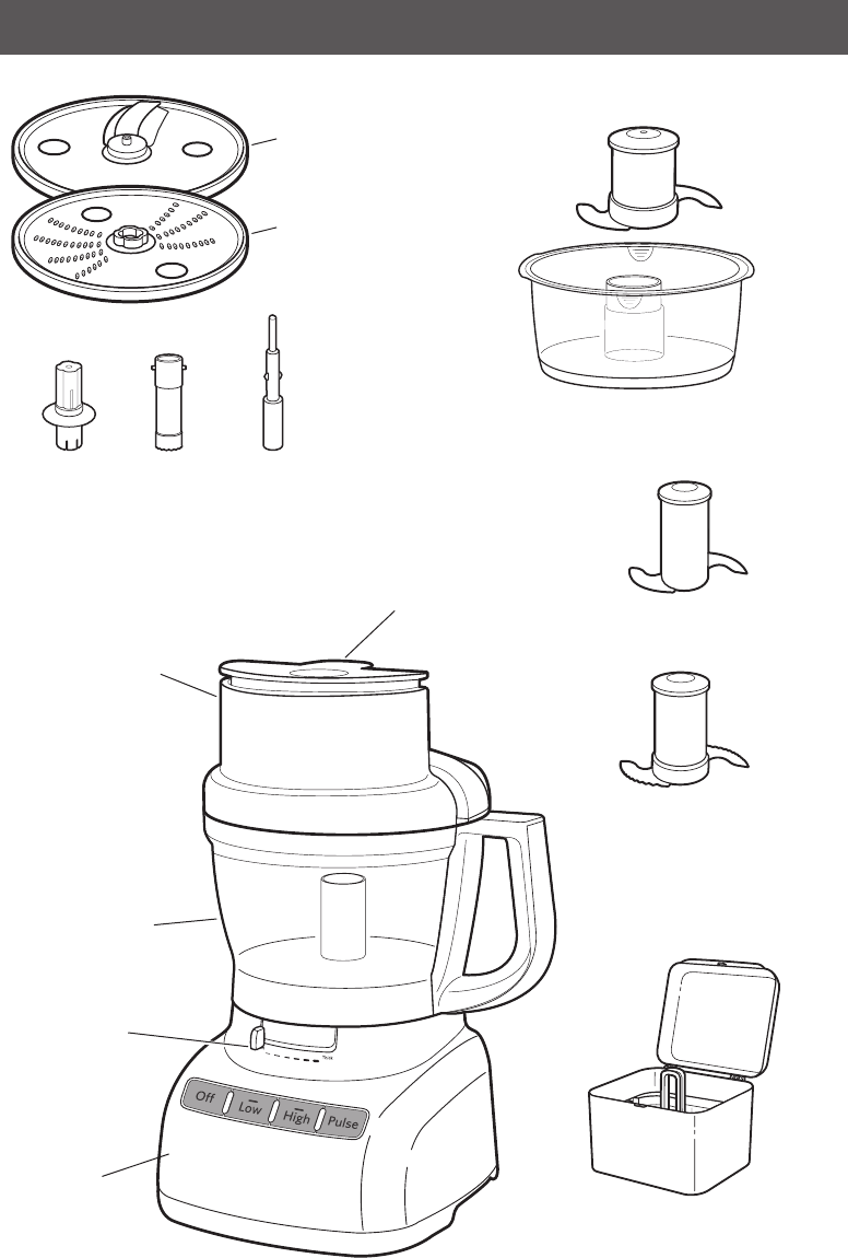 Page 6 of KitchenAid Food Processor KFP1333 User Guide