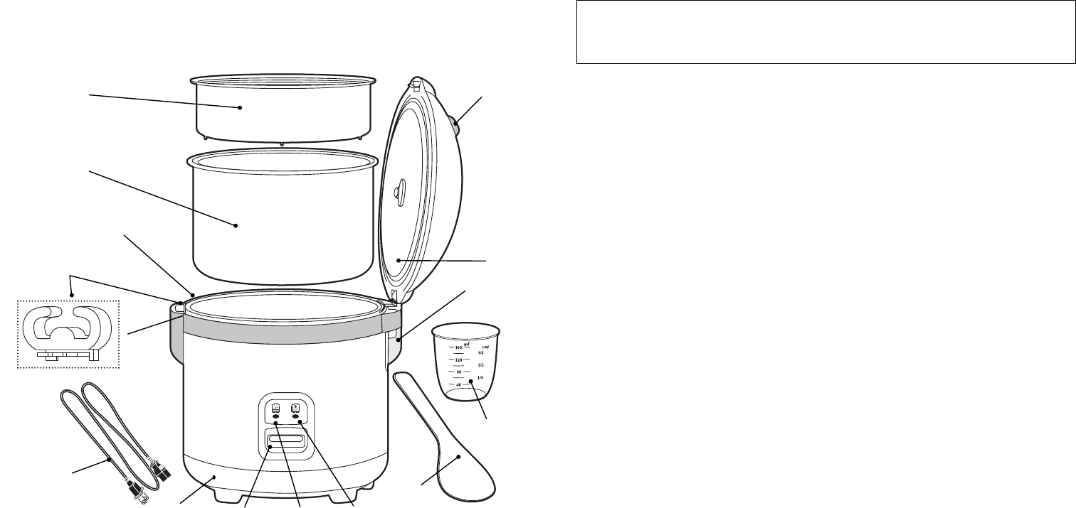 Page 3 of Oster Rice Cooker 4717 User Guide