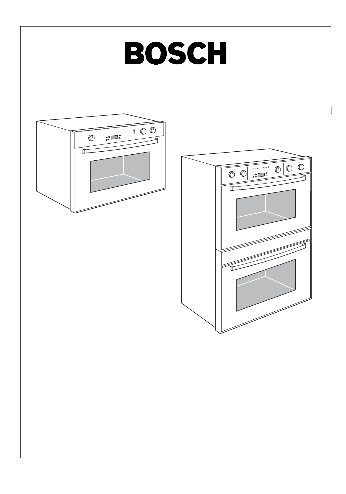 Page 3 of Bosch Appliances Oven 44 User Guide