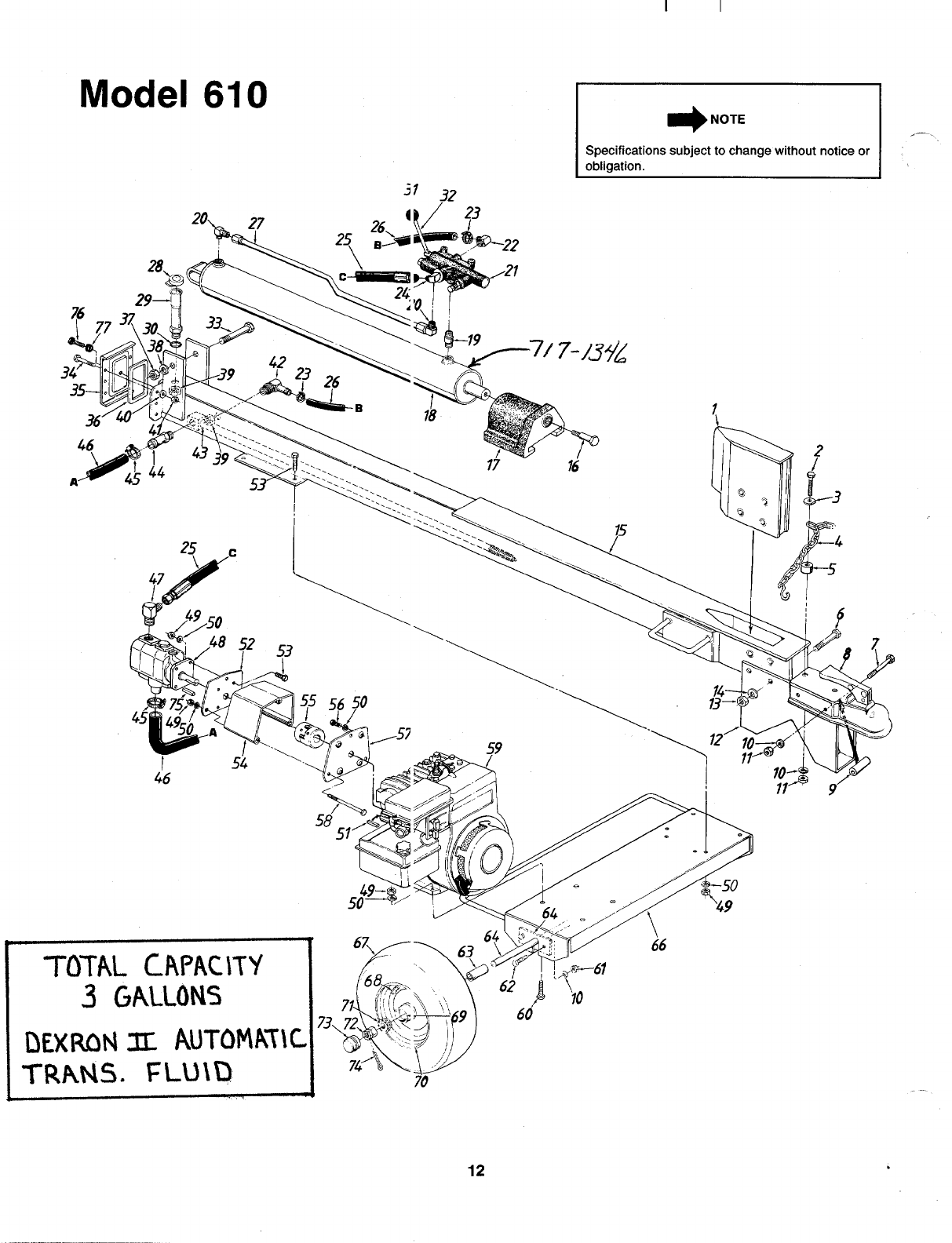 Page 12 of MTD Log Splitter 240-610-000 User Guide