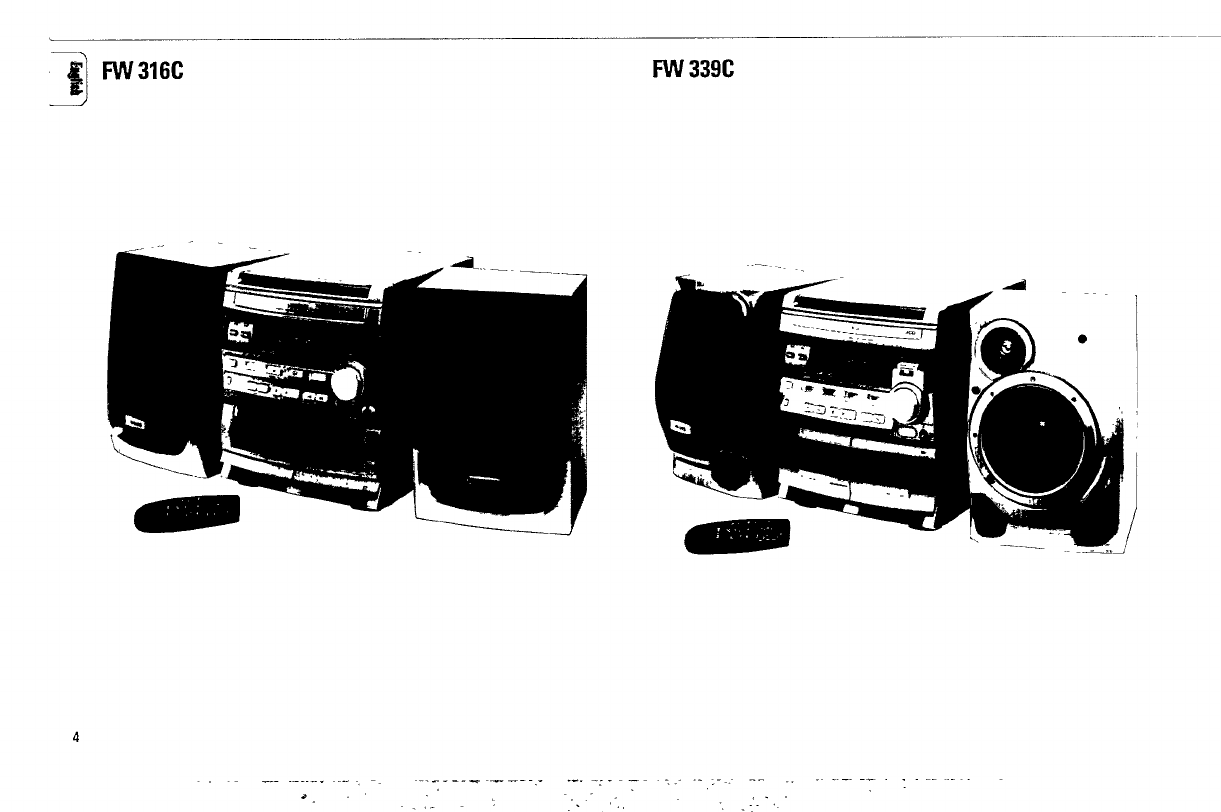 Page 4 of Magnavox CD Player FW316C User Guide