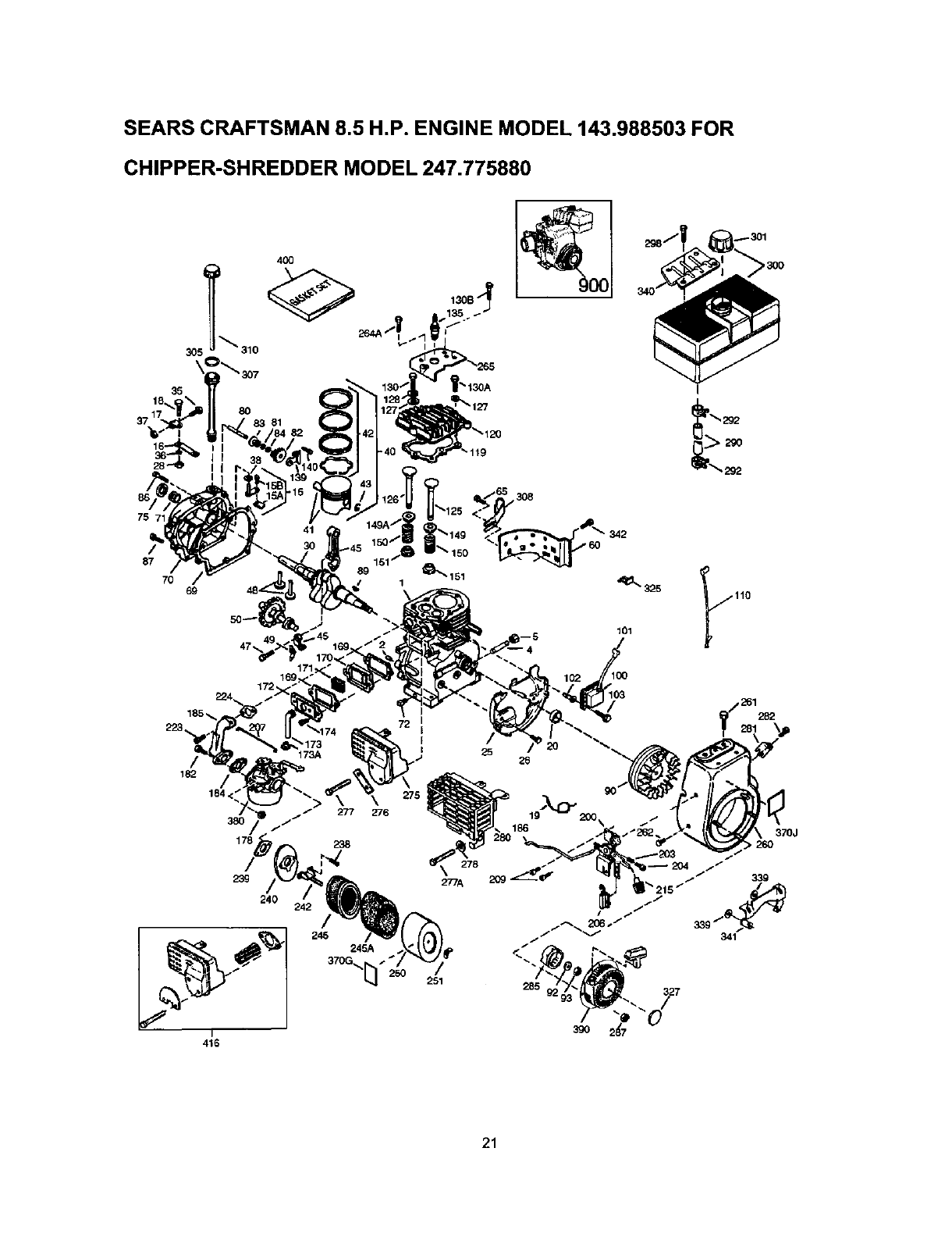 Page 21 of Craftsman Chipper 247.77588O User Guide