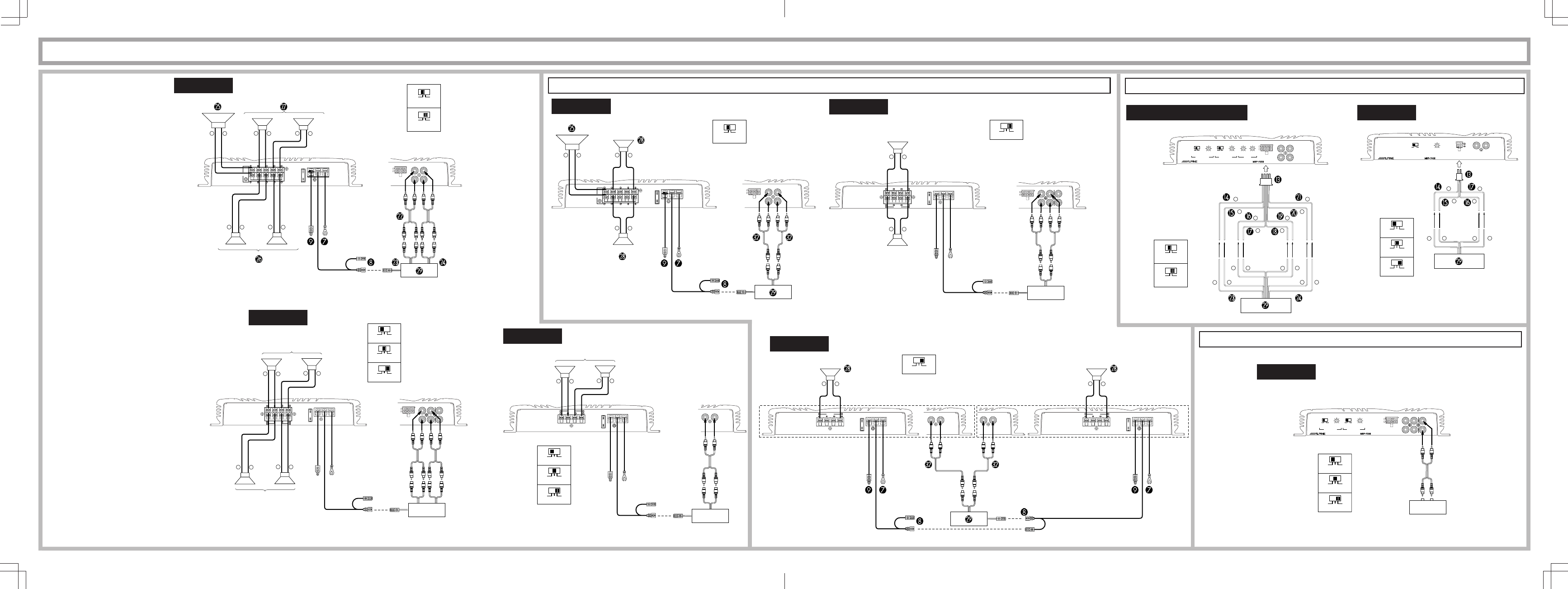 Page 4 of Alpine Stereo Amplifier MRP-F356 User Guide