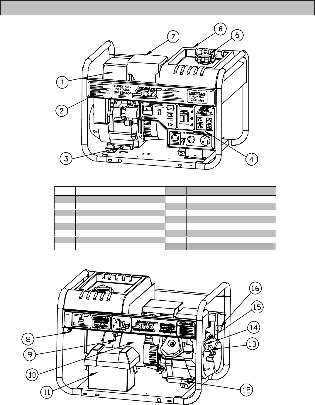 Page 4 of North Star Portable Generator 5500 IPG User