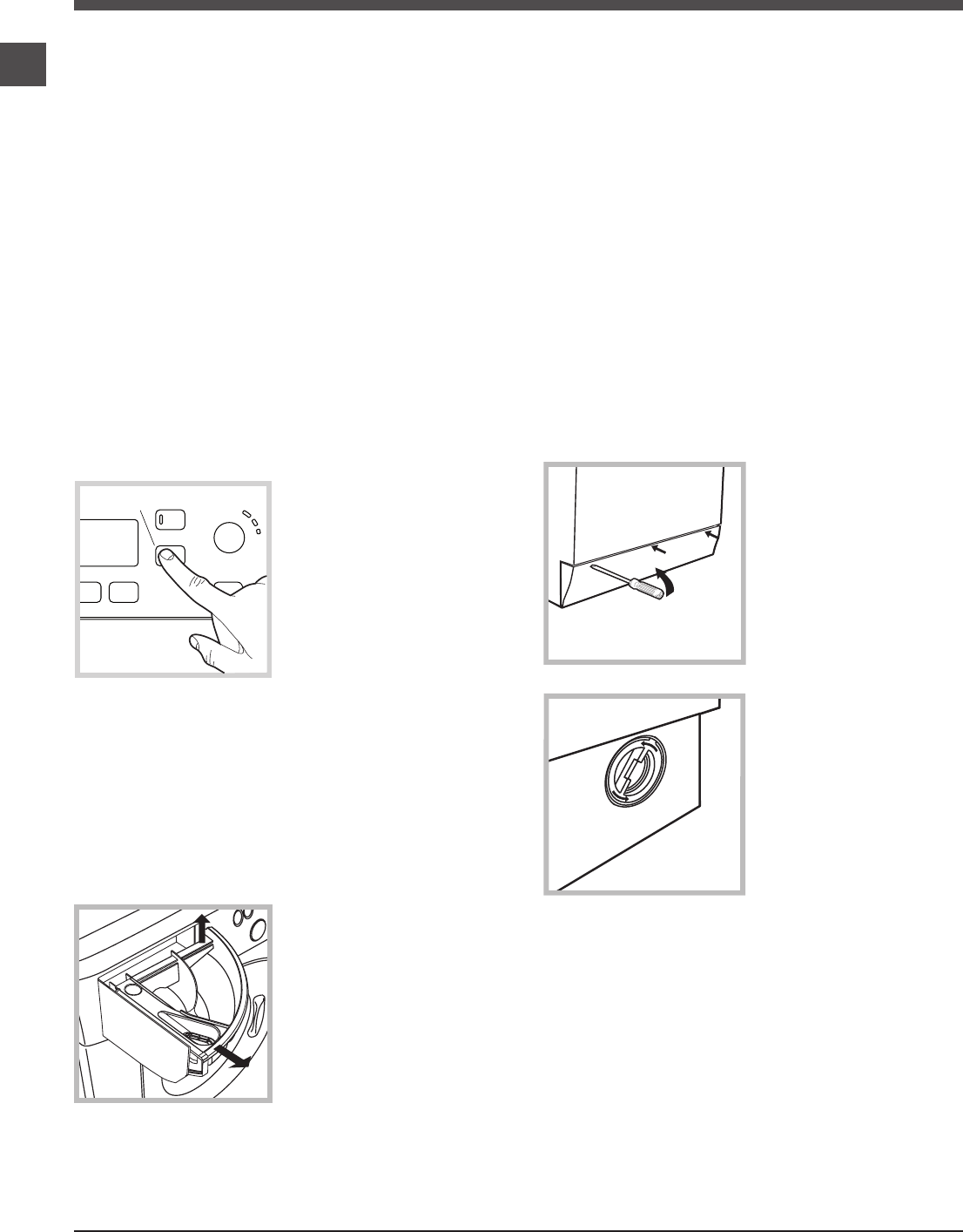 Page 6 of Hotpoint Washer WMEF 742 User Guide