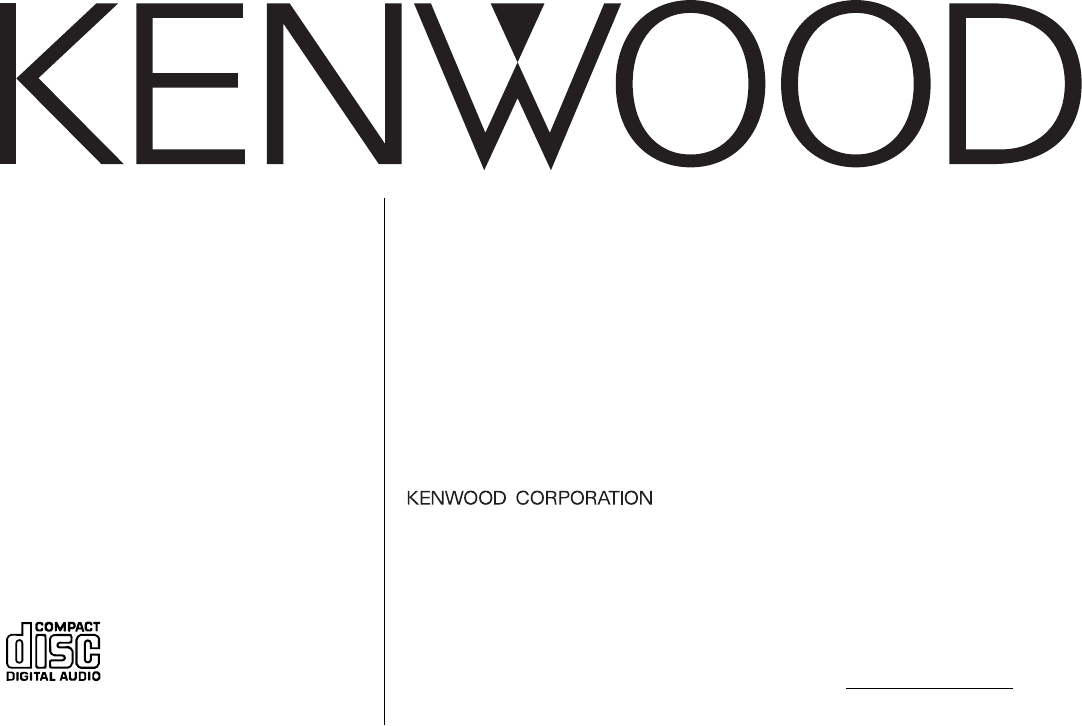 Kenwood Car Stereo System KDC-205 User Guide