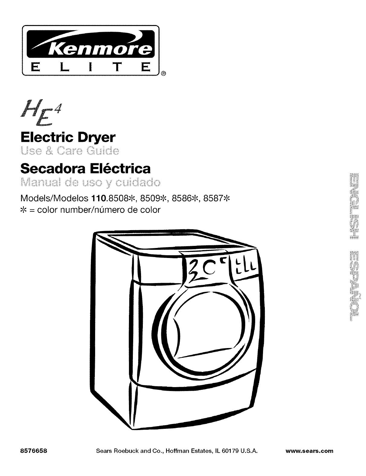 Wiring Diagram Kenmore Dryer 80 Series