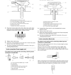 page 12 of kenmore clothes dryer 110 8586 user guide electric dryers direct 3wire connection [ 1212 x 1574 Pixel ]