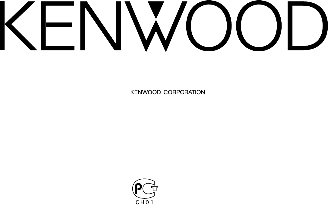 Kenwood Car Stereo System KRC-V679R User Guide