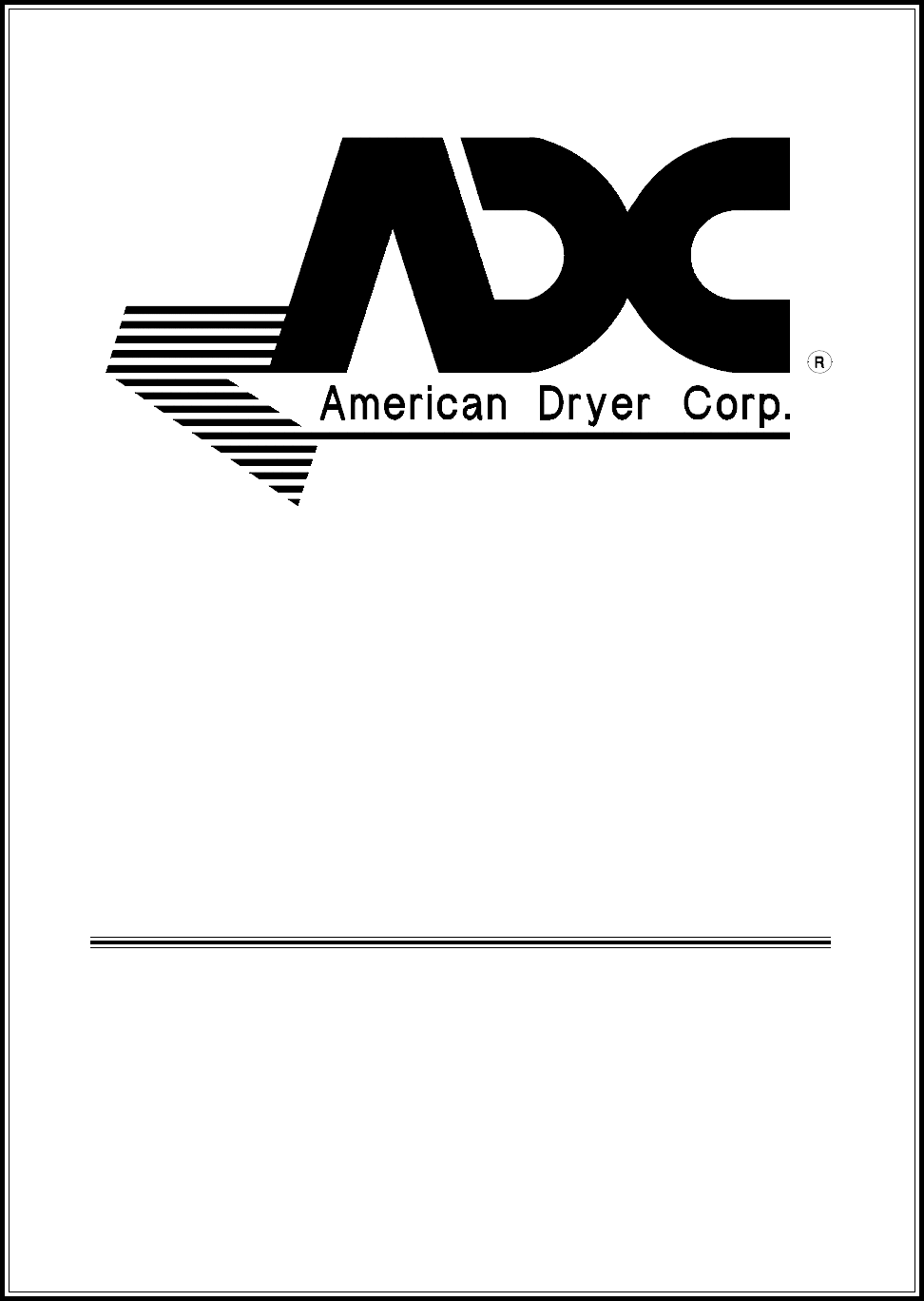 American Dryer Corp. Clothes Dryer ADG-530 User Guide