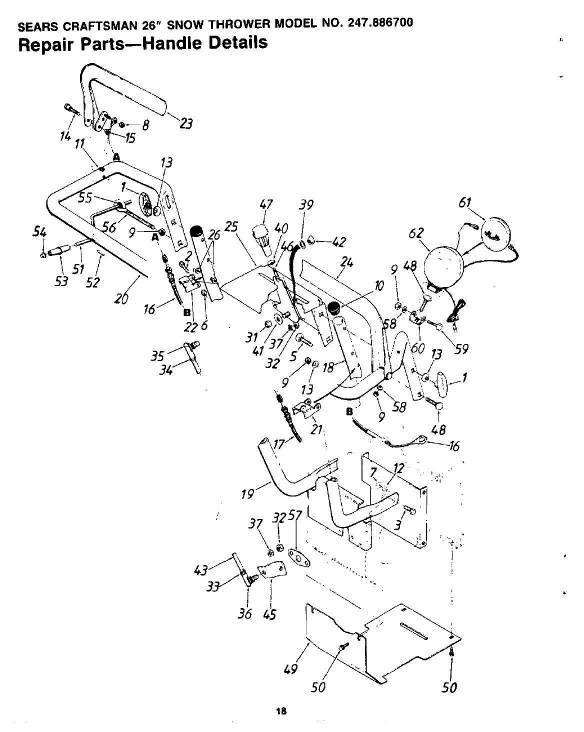 Page 18 of Sears Snow Blower 247.8867 User Guide