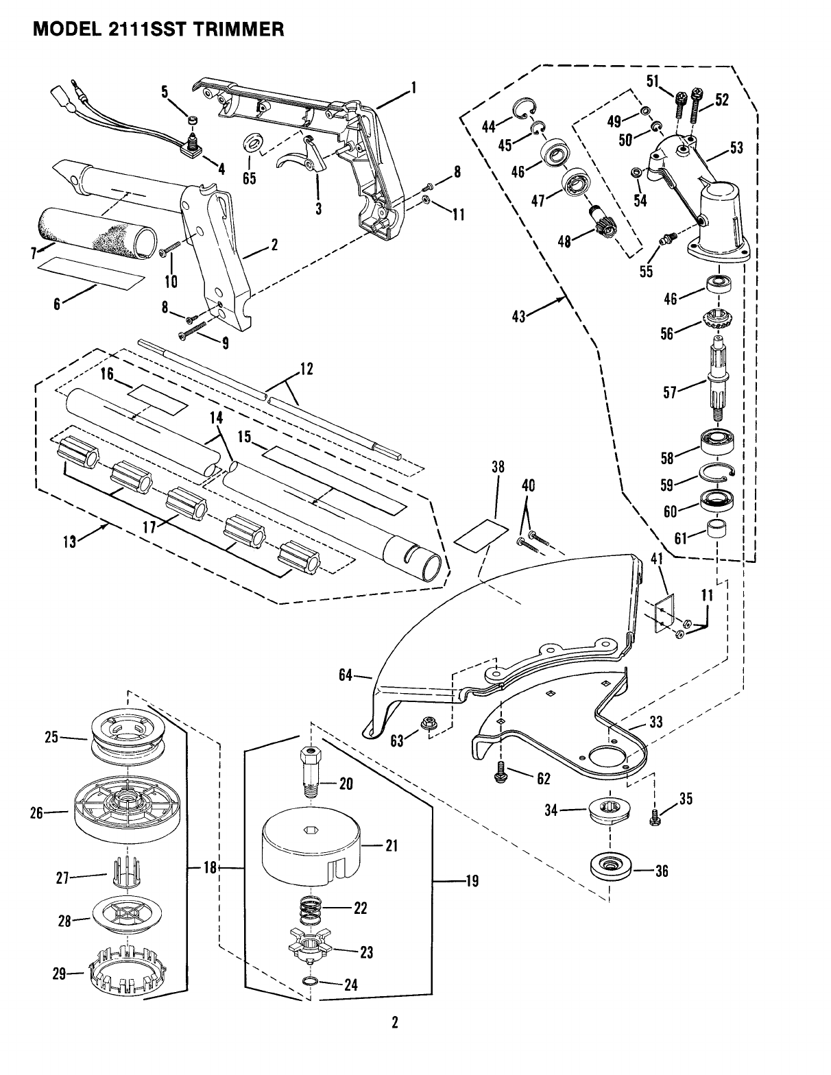 Page 2 of Snapper Trimmer 2111SST User Guide