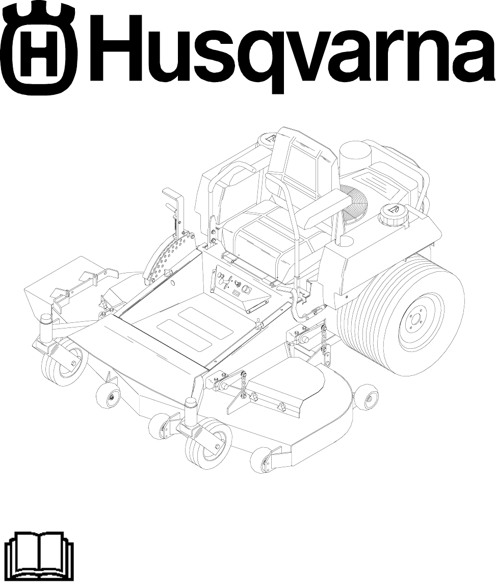 Husqvarna Lawn Mower 968999175 / ZTH7226KOA User Guide