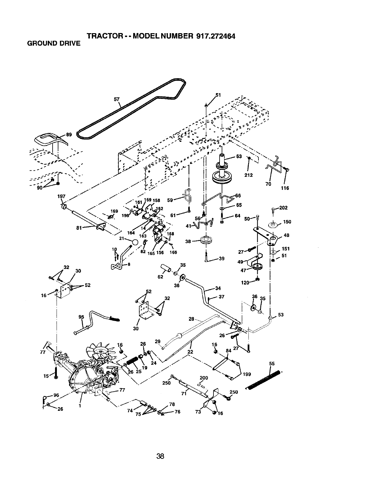 Page 38 of Craftsman Lawn Mower 917.272464 User Guide