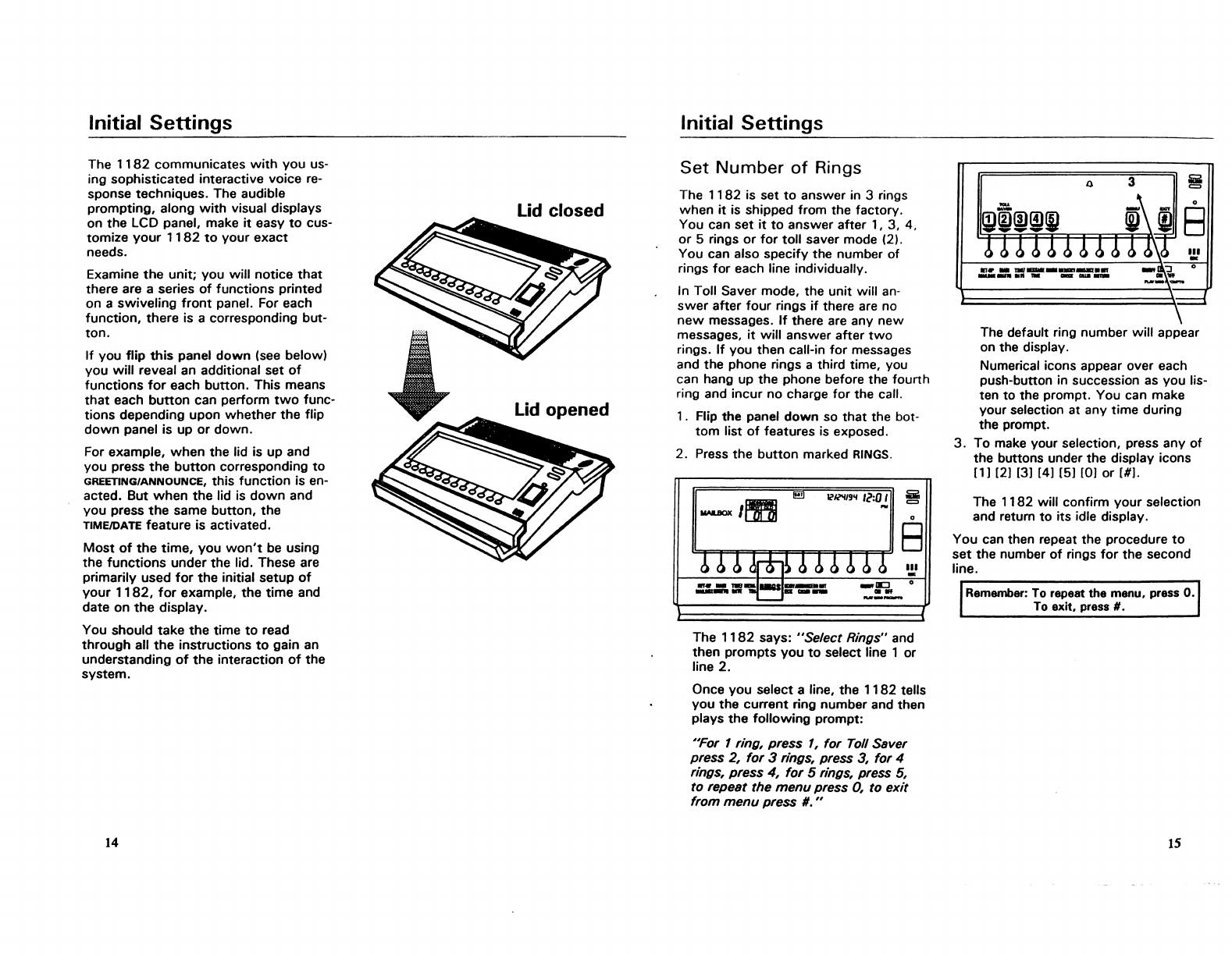 Page 8 of AT&T Answering Machine 1182 User Guide