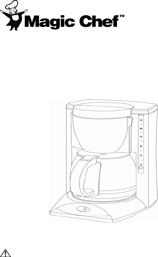 Magic Chef Coffeemaker MCCM1NB12 User Guide