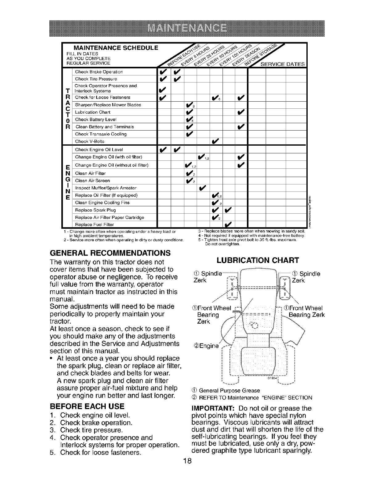 Page 18 of Craftsman Lawn Mower 917.273823 User Guide