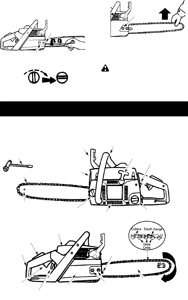 Page 8 of Poulan Chainsaw 115358026 User Guide