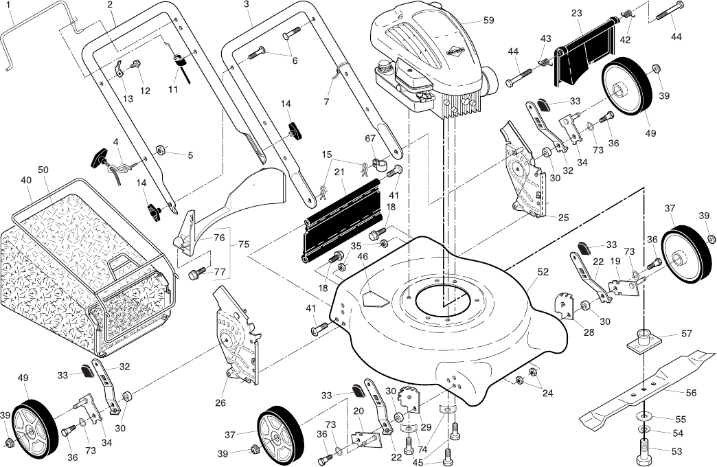 Page 2 of Poulan Pro Lawn Mower 96134000800 User Guide