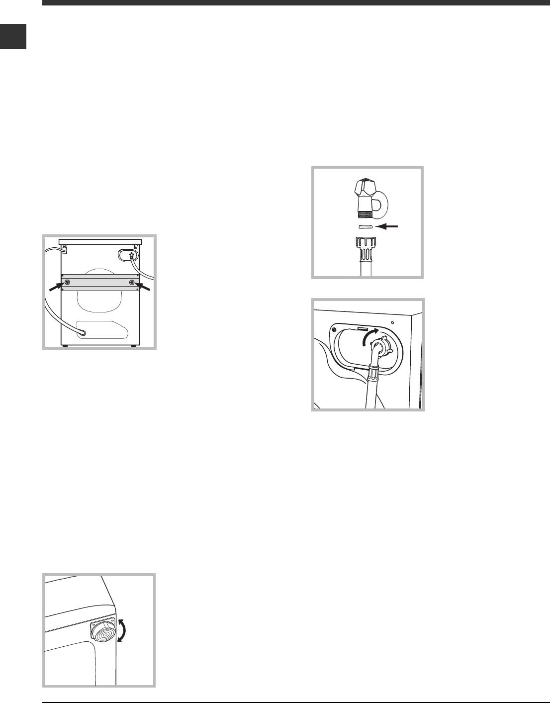 Page 2 of Hotpoint Washer WML 540 P/G/A/K User Guide