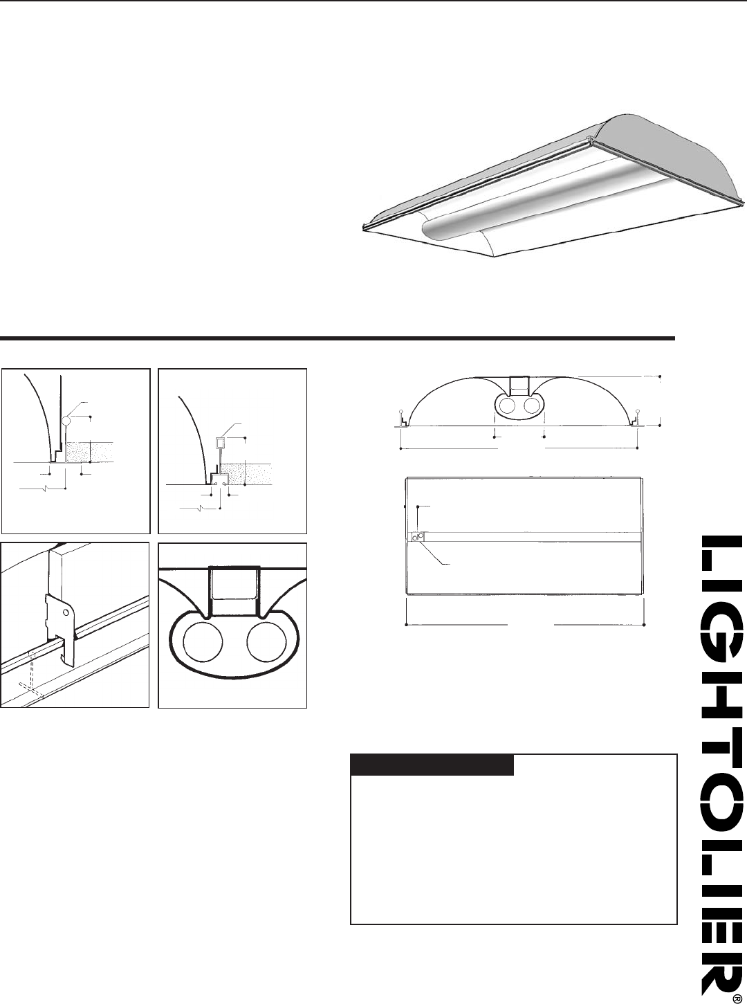 Lightolier Indoor Furnishings H9S2GLR232 User Guide
