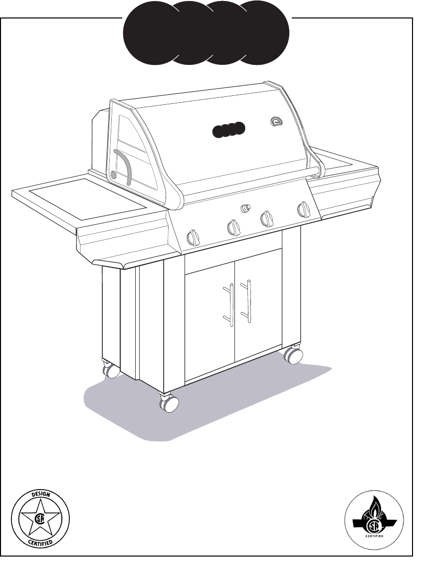 Vermont Casting Gas Grill CF9050 CF9080 User Guide