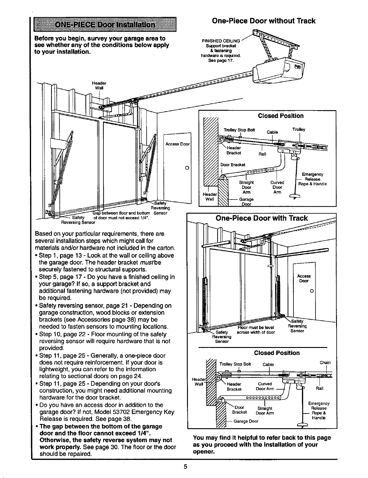 Page 5 of Craftsman Garage Door Opener 139.53978SRT User