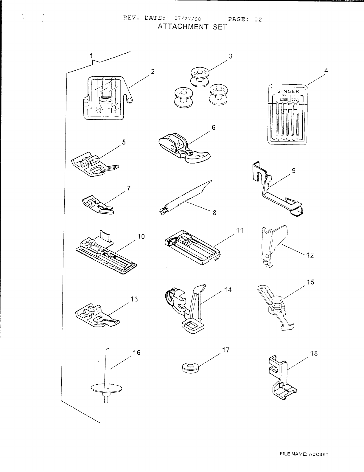 Page 4 of Singer Sewing Machine 6412 User Guide