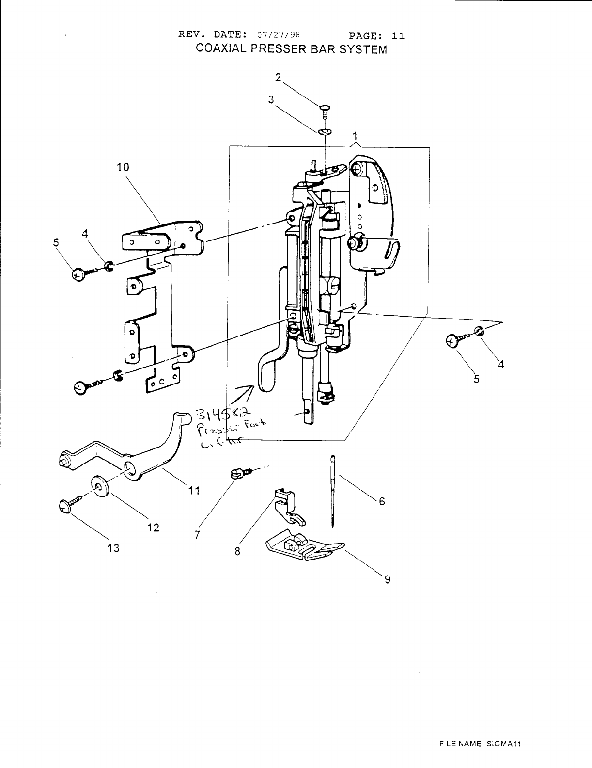 Page 13 of Singer Sewing Machine 6412 User Guide