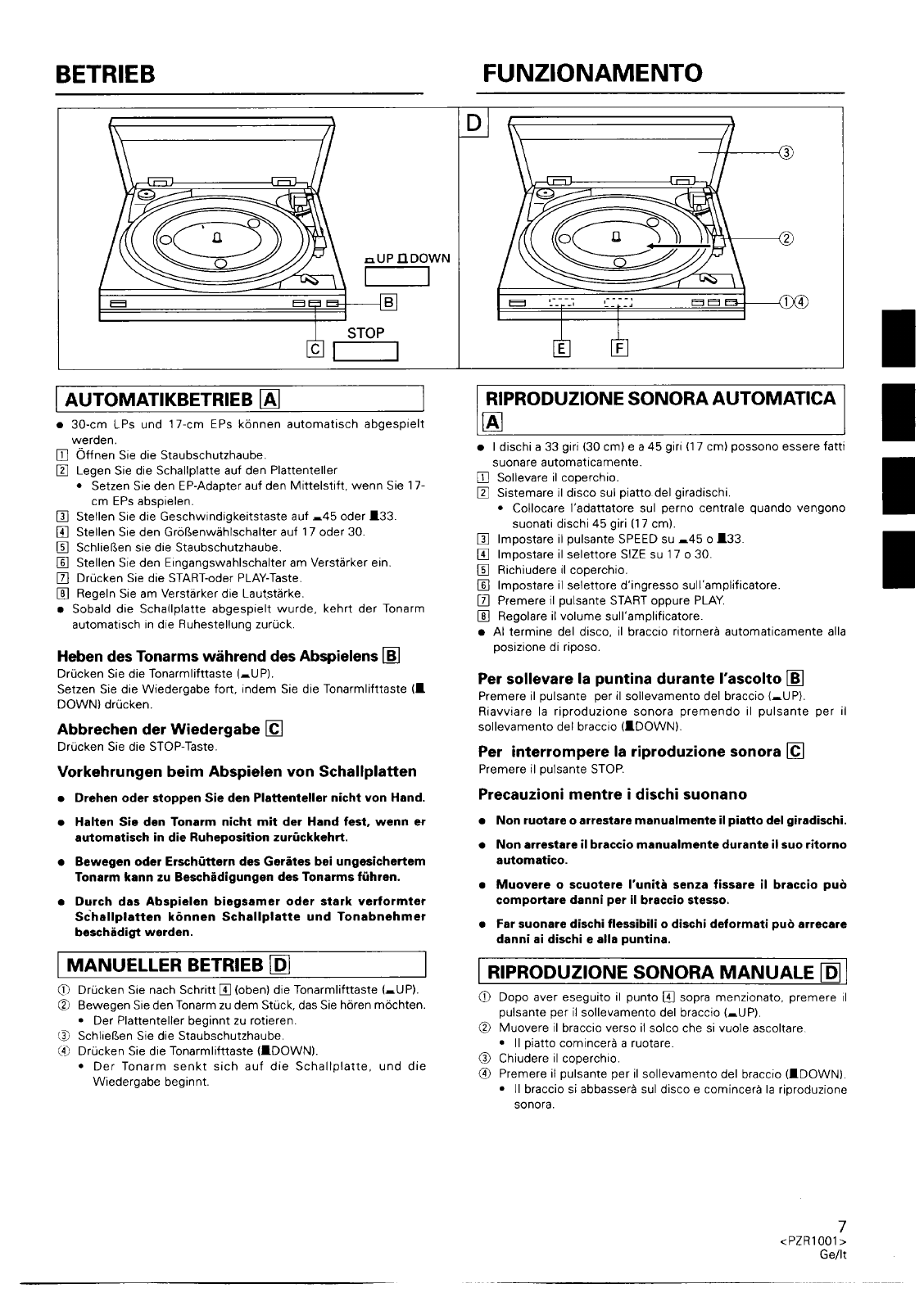 Page 7 of Pioneer Turntable PL-990 User Guide
