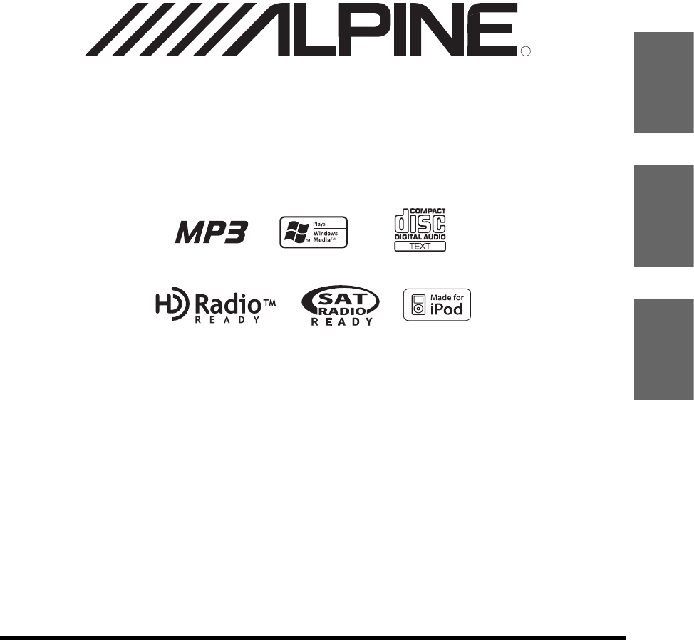 Alpine Car Stereo System CDA-9856 User Guide