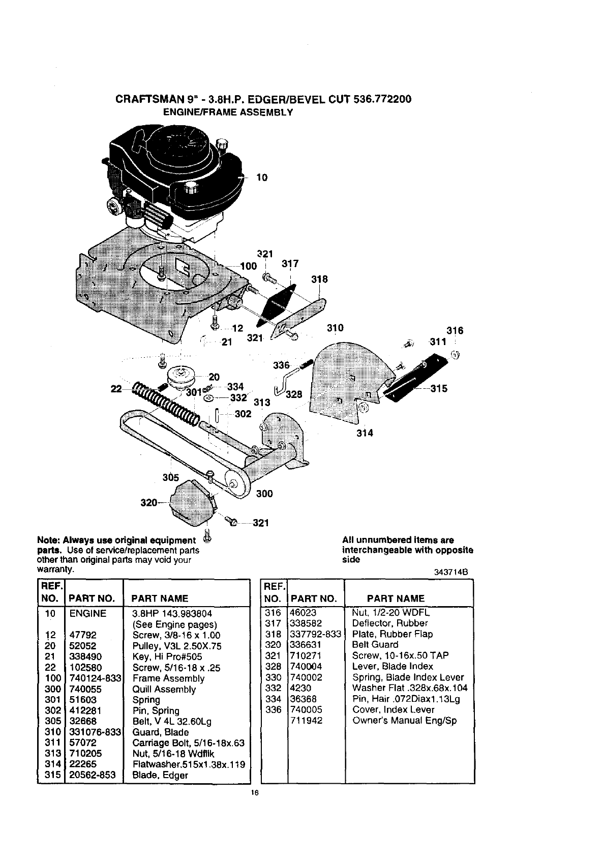 Page 16 of Craftsman Edger 536.7722 User Guide