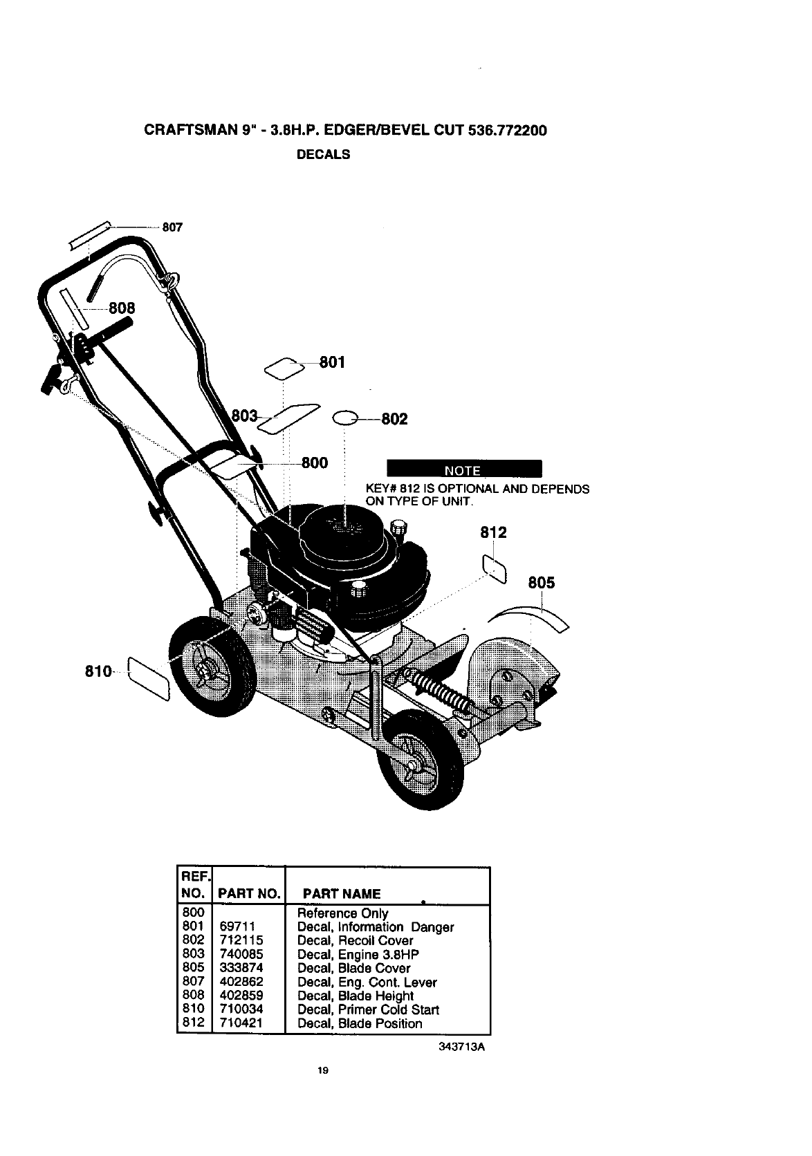 Page 19 of Craftsman Edger 536.7722 User Guide