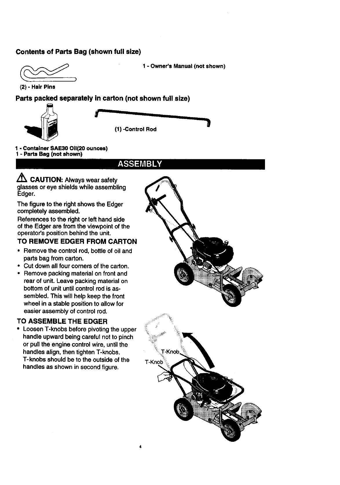 Page 4 of Craftsman Edger 536.7722 User Guide