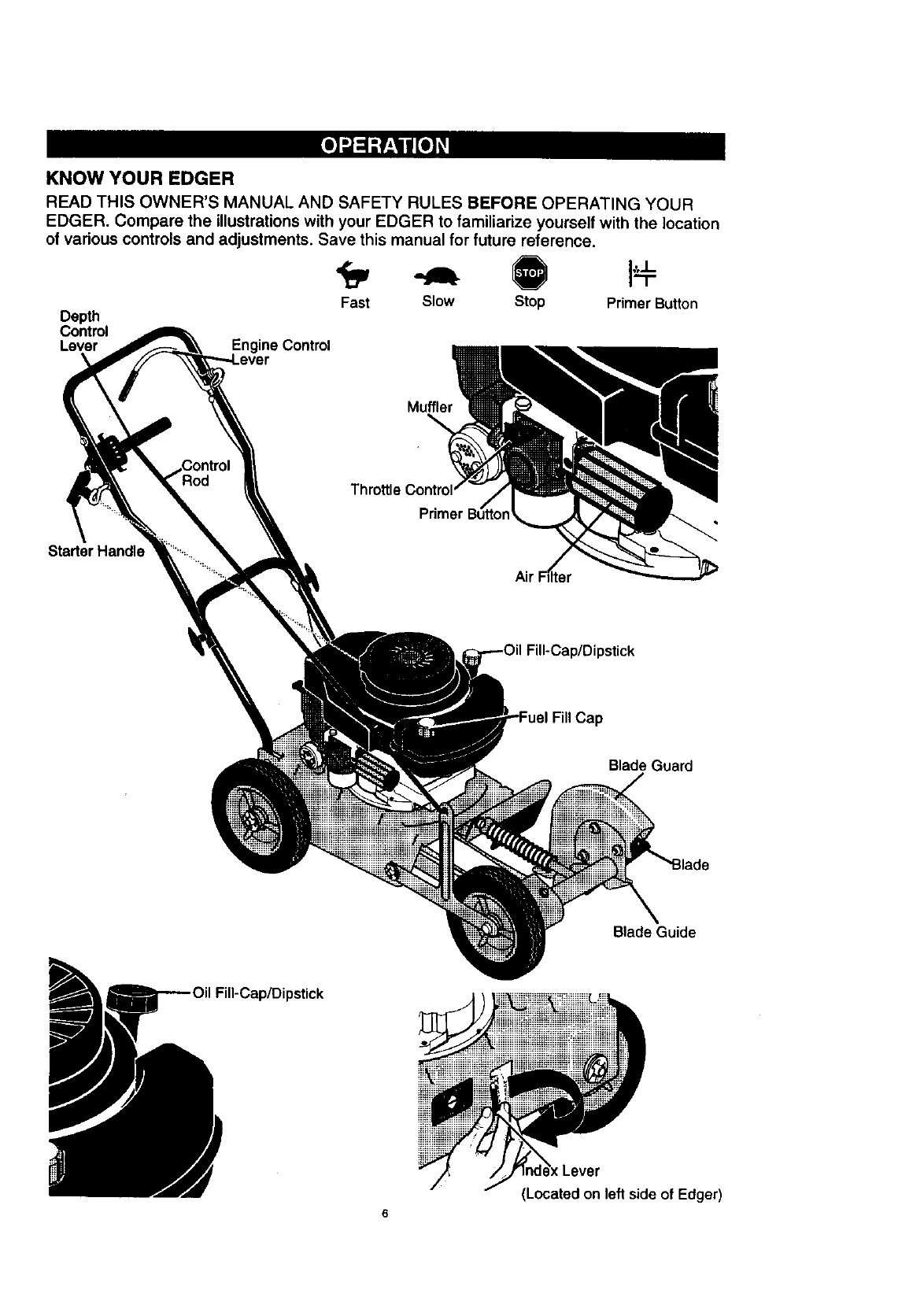 Page 6 of Craftsman Edger 536.7722 User Guide