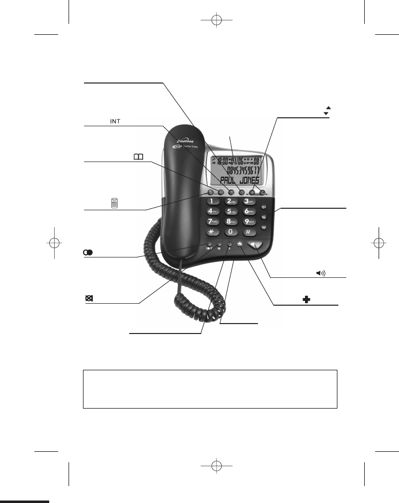 Page 3 of Binatone Cordless Telephone 2300 User Guide