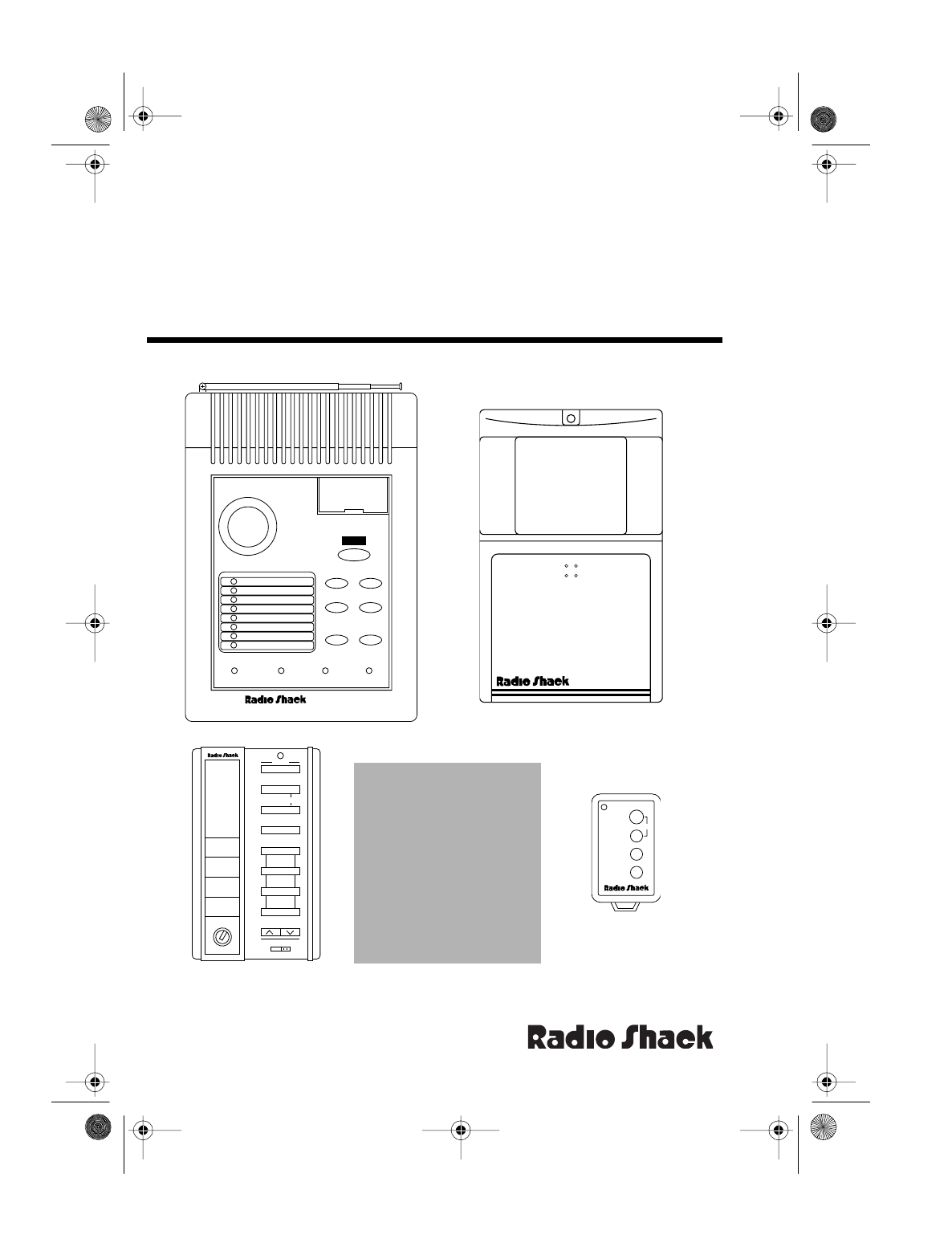 Radio Shack Home Security System 5000 User Guide