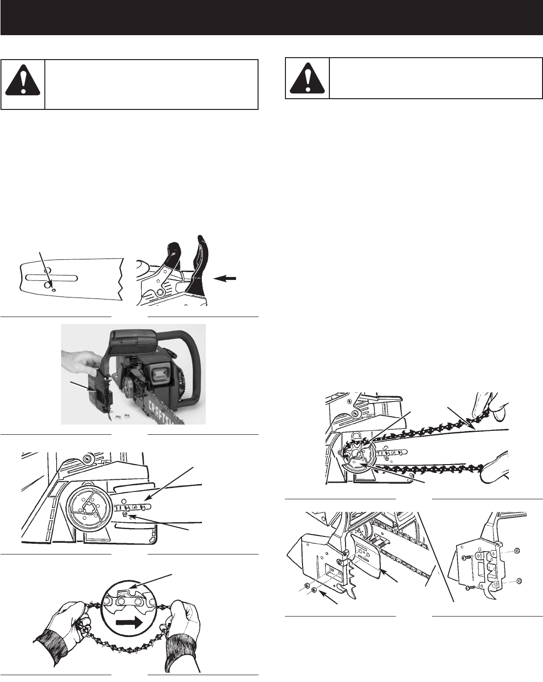 Page 16 of Craftsman Chainsaw 316.350850 User Guide