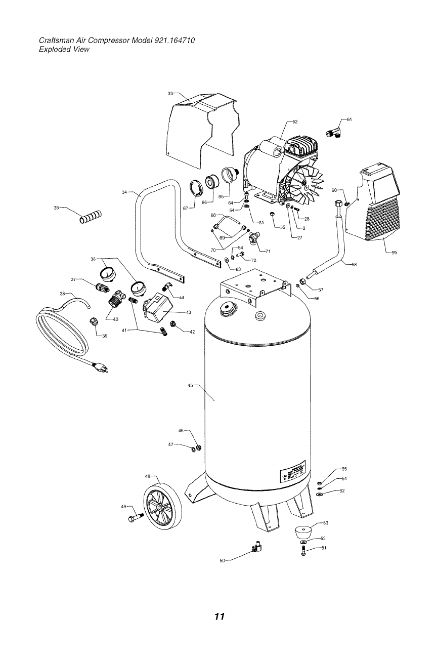 Page 11 of Sears Air Compressor 921.16471 User Guide