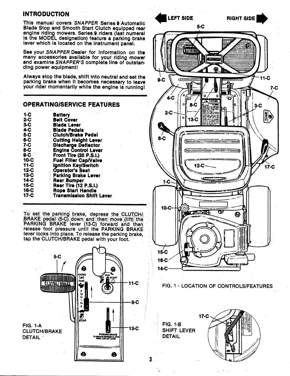 Page 3 of Snapper Lawn Mower 25069 User Guide