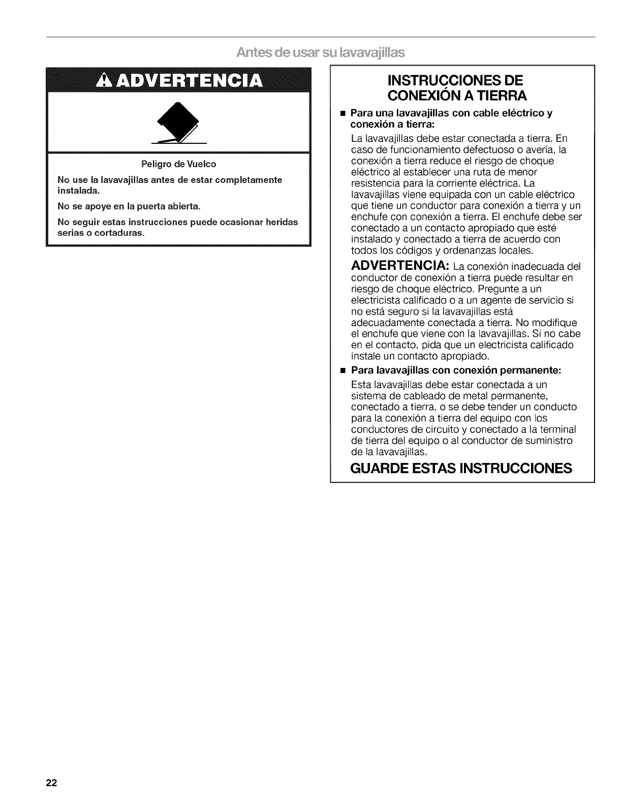 Page 22 of Kenmore Dishwasher 665.1345 User Guide