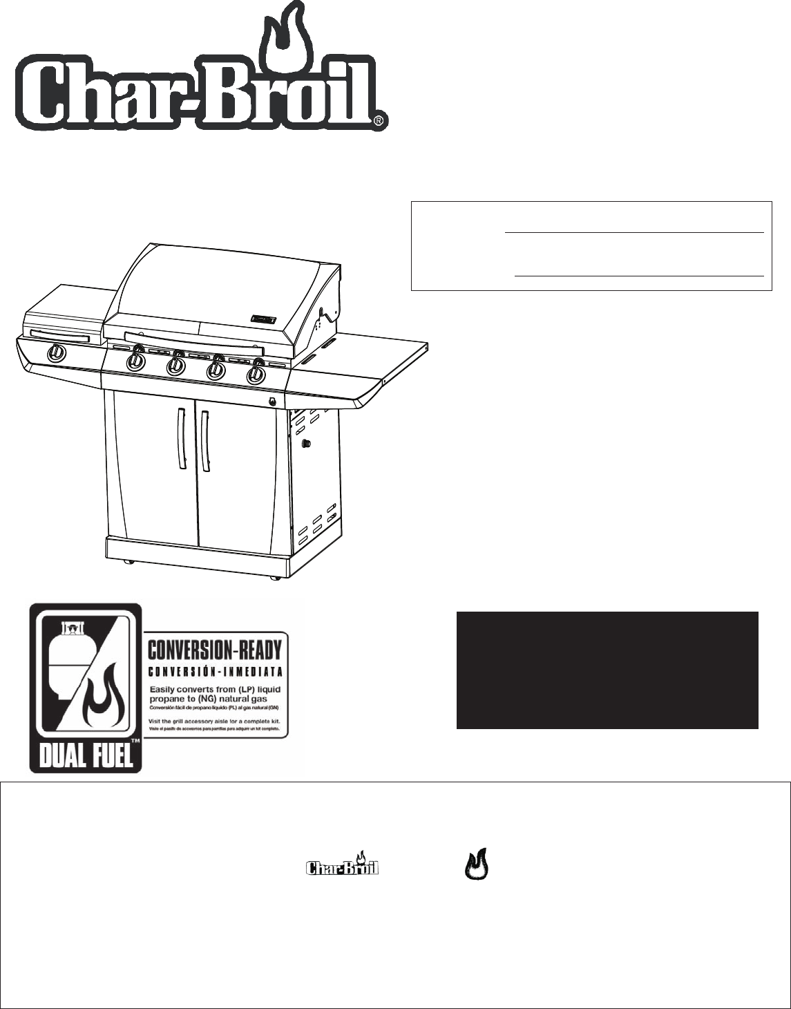 Char-Broil Charcoal Grill 463271309 User Guide